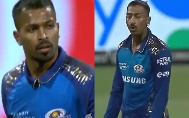 IPL 2020: Krunal Pandya gets angry over birthday boy Hardik Pandya during MI vs DC match