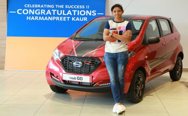 A gift for cricketer Harmanpreet Kaur from Datsun India