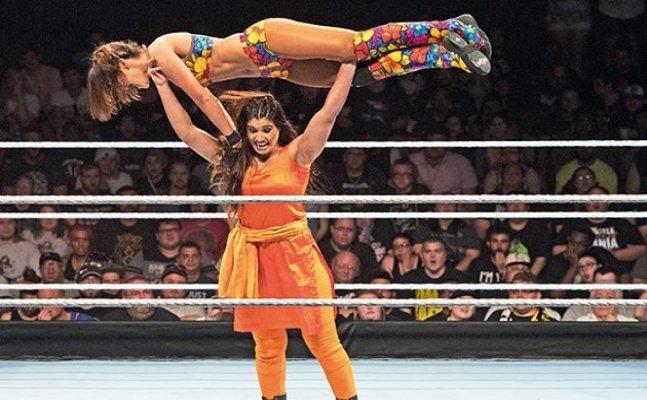 Watch: Indian wrestler Kavita Devi wrestles wearing a `Salwar-Kameez`