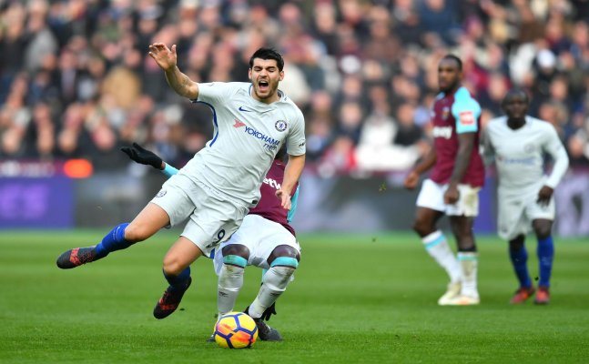 Morata to miss Huddersfield clash, Drinkwater back