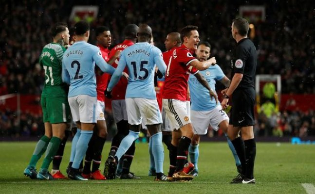 Manchester clubs iinvovled in a brawl post derby