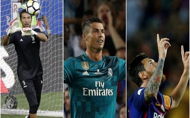 Buffon, Messi, Ronaldo up for UEFA Player of the year award