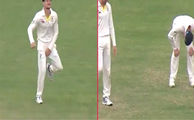 Steve Smith can't stop laughing after Bancroft suffered an on-field wardrobe malfunction