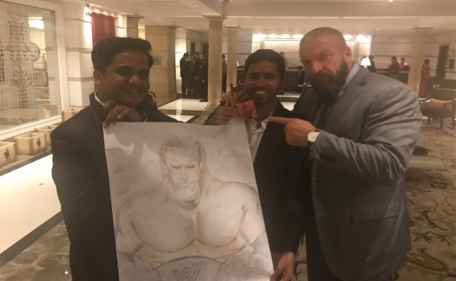 Triple H touchdown in India, fans welcome him in style