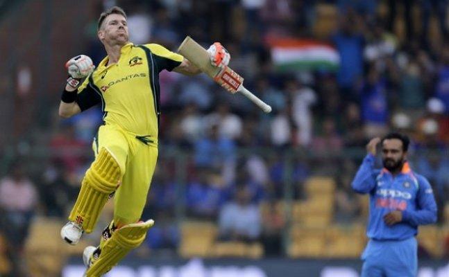 Ind vs Aus: In his 100th ODI match, Warner scores 14th ODI ton