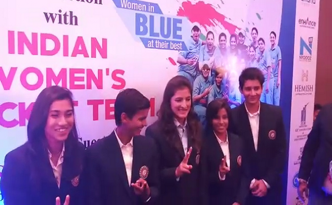 Cricket`s Chak De Moment: UP Governor felicitates Indian Women cricketers